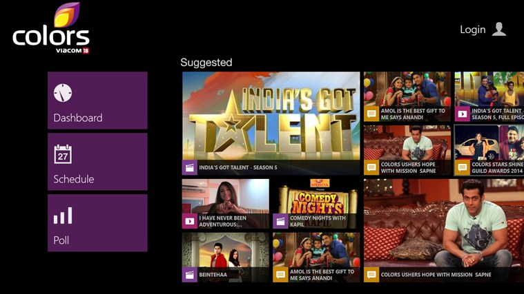 good news for our indian readers popular tv channel colors and news publication firstpost have made their apps available on windows 81 today - Colors Tv India
